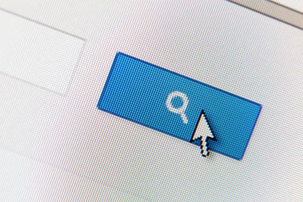 Search button on a webpage