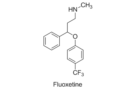 A molecule of fluoxetine.