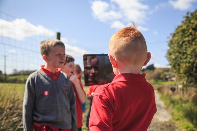Image of children with iPad