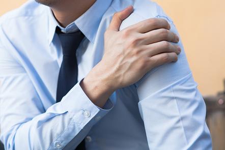 Man having shoulder pain problem.