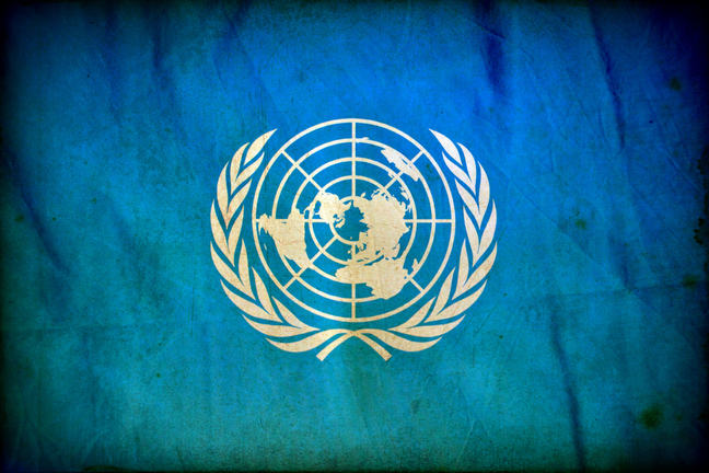 United Nations flag and logo