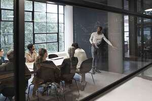 Group work in an office setting