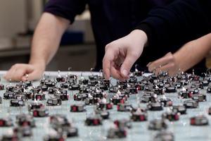 A kilobot swarm