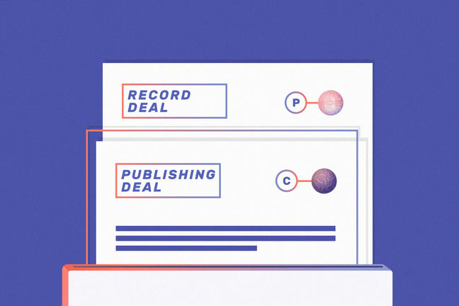 Record and publishing contracts.