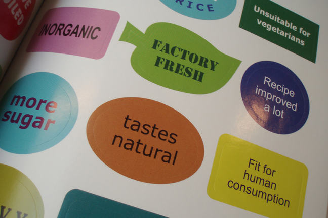 Food label stickers
