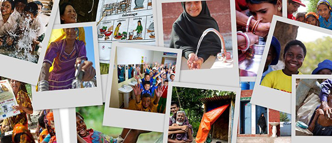 IFRC partner page image showing a collage of photographs of children