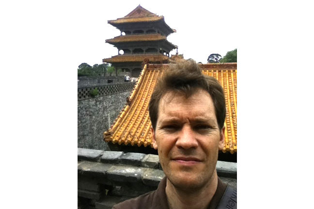 Your instructor visiting the early Qing Dynasty tombs in northeast China