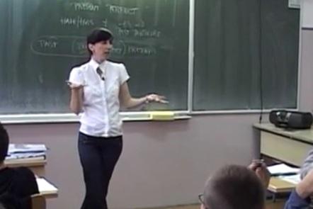 Teacher in her classroom