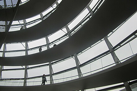 Picture of building from within (Berlin)