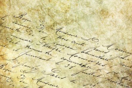 Abstract handwriting