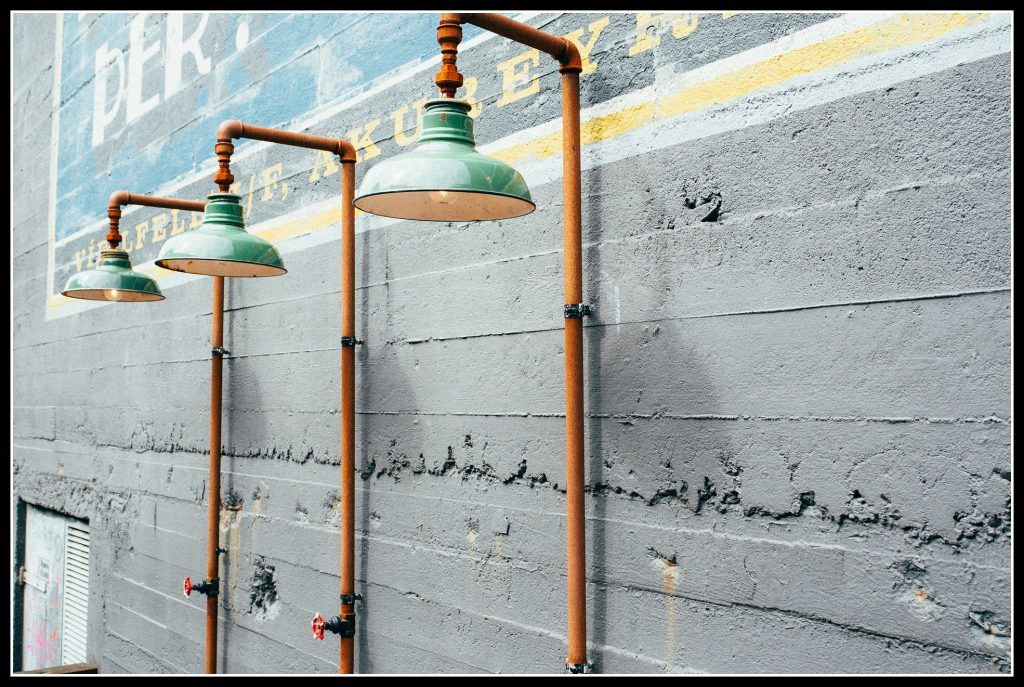 Showers created with waste materials