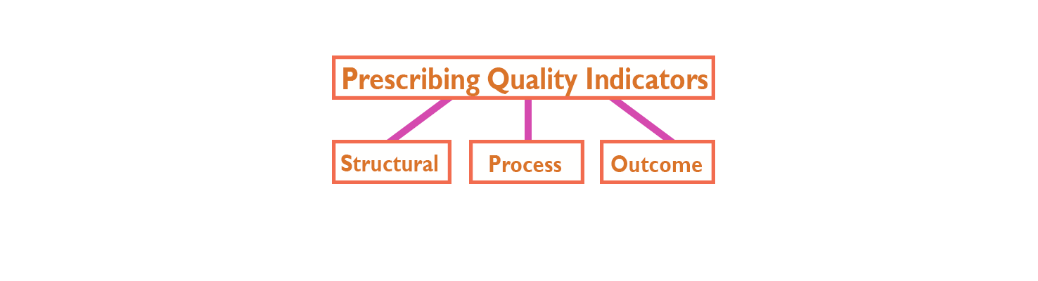 Using prescribing quality indicators, Structural, Process, Outcome