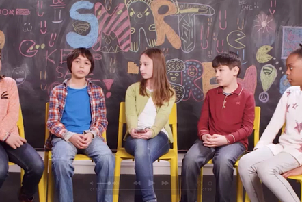Children from the internet safety video