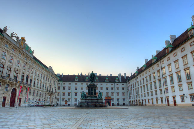 Hofburg Palace, Vienna, where much of the diplomacy and socialising took place.