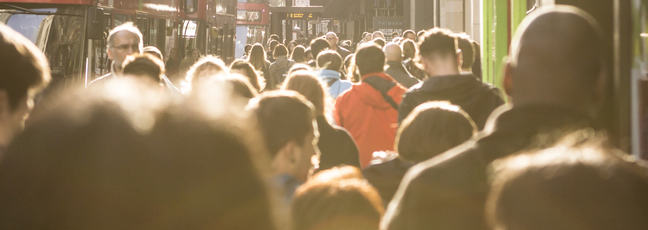 A crowd in London