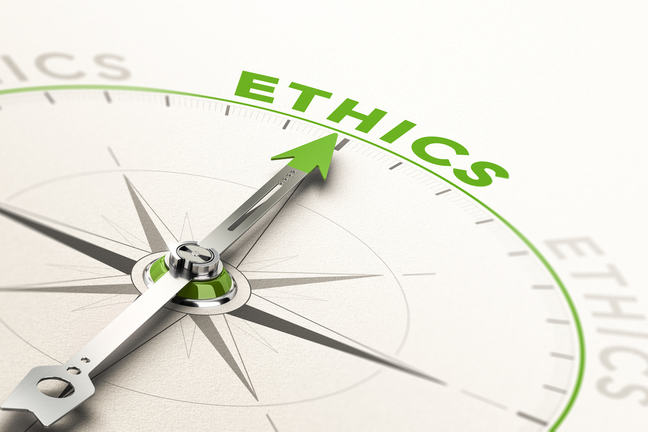 Arrow pointing at Ethics