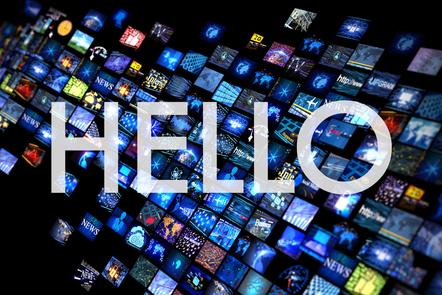Hello graphic title card