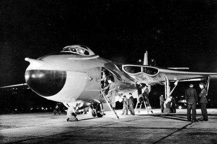 A Valiant being serviced on the ground.