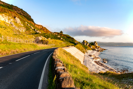 A road near the Giant's Causeway, Co. Antrim.