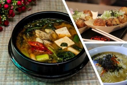 food okinawa diet: kombu seaweeds, tofu, shiitake mushrooms