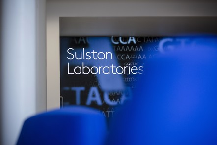 Interior of Sulston building Wellcome Genome Campus