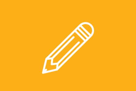 An icon of a pencil