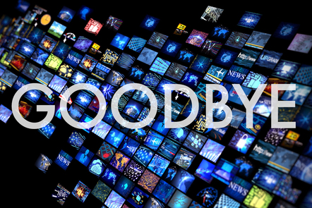 Goodbye graphic title card