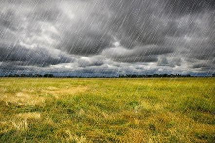 Heavy rain on fields