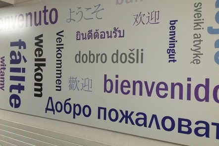 A few global languages on the School of Modern Languages and Cultures Welcome Wall.