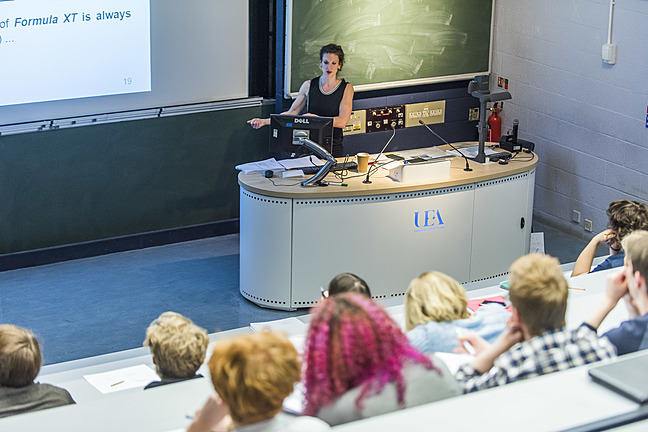 Students listening in a lecture