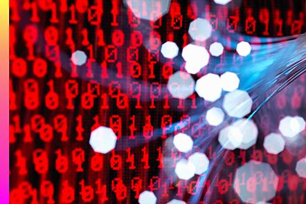 FFiber-optics carrying data attacking a laptop computer that has a virus
