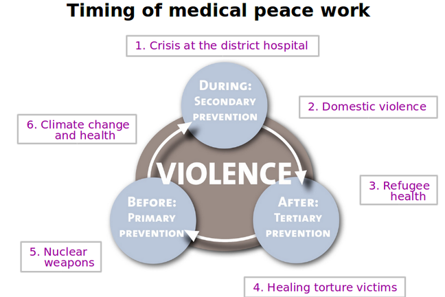 Model: Case 6 and timing of Medical Peace Work