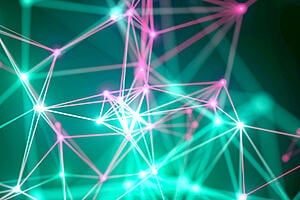 Web of colourful nodes