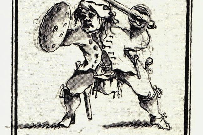 A contemporary drawing of a Highland chief from the 1745 rising