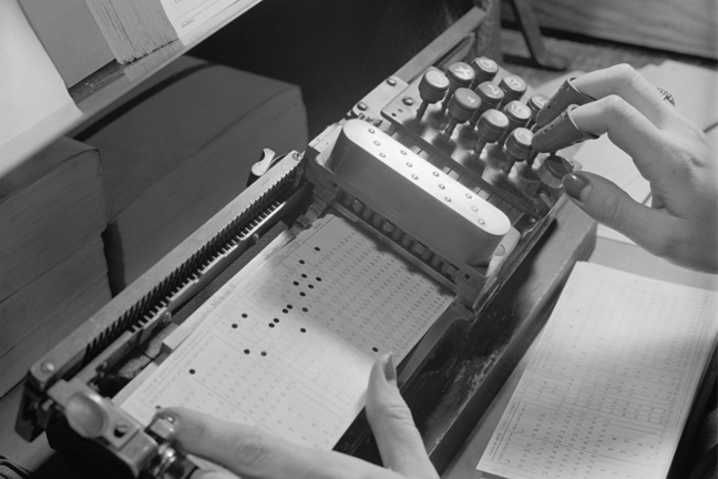 punchcard machine for census