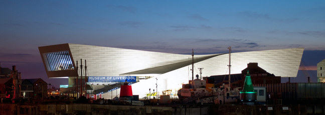 The Museum of Liverpool at night - an example of the 21st century museum
