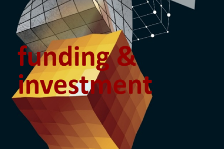 "Part of Scale-up Manual front cover image with the word ""funding & investment""."