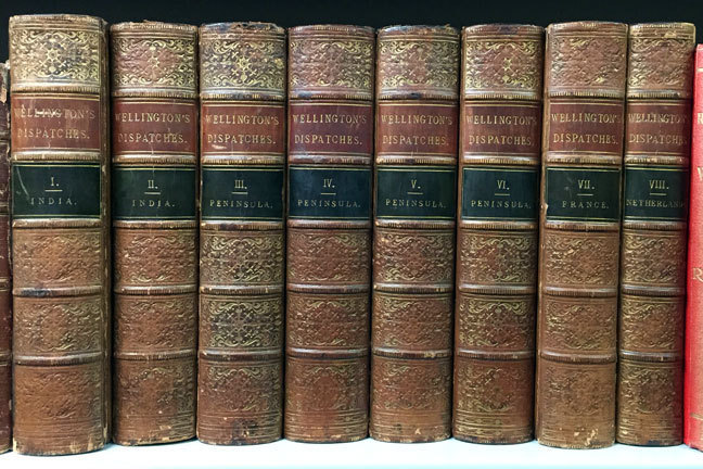 Book spines of the Wellington Dispatches