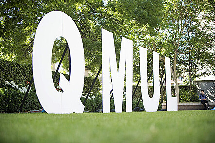 An image showing the word QMUL for Queen Mary University of London
