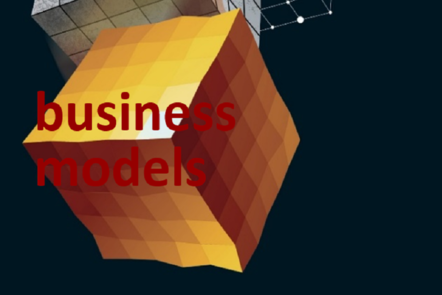 "Part of Scale-up Manual front cover image with the words ""business models""."