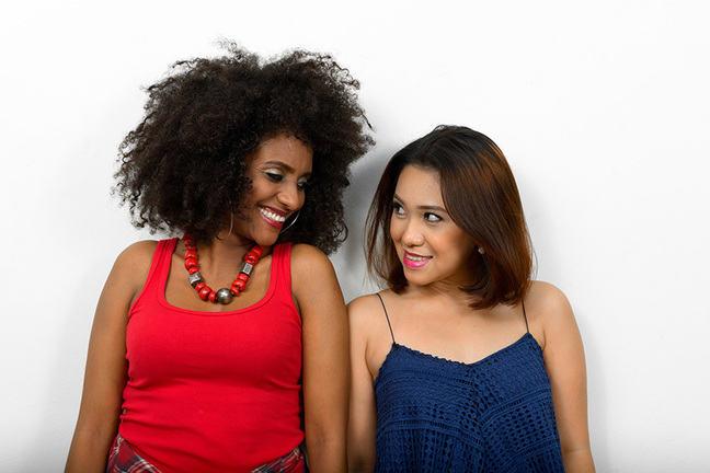 bi-racial lesbian couple