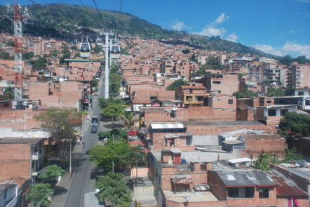 The cable car in Medellín