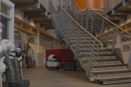 Foyer with stairs at Aardman animation