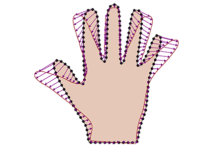 Hand on a dataset in correspondence using Scalismo