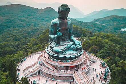 Image representing a big statute of a Buddha