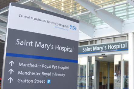 St Mary's hospital sign