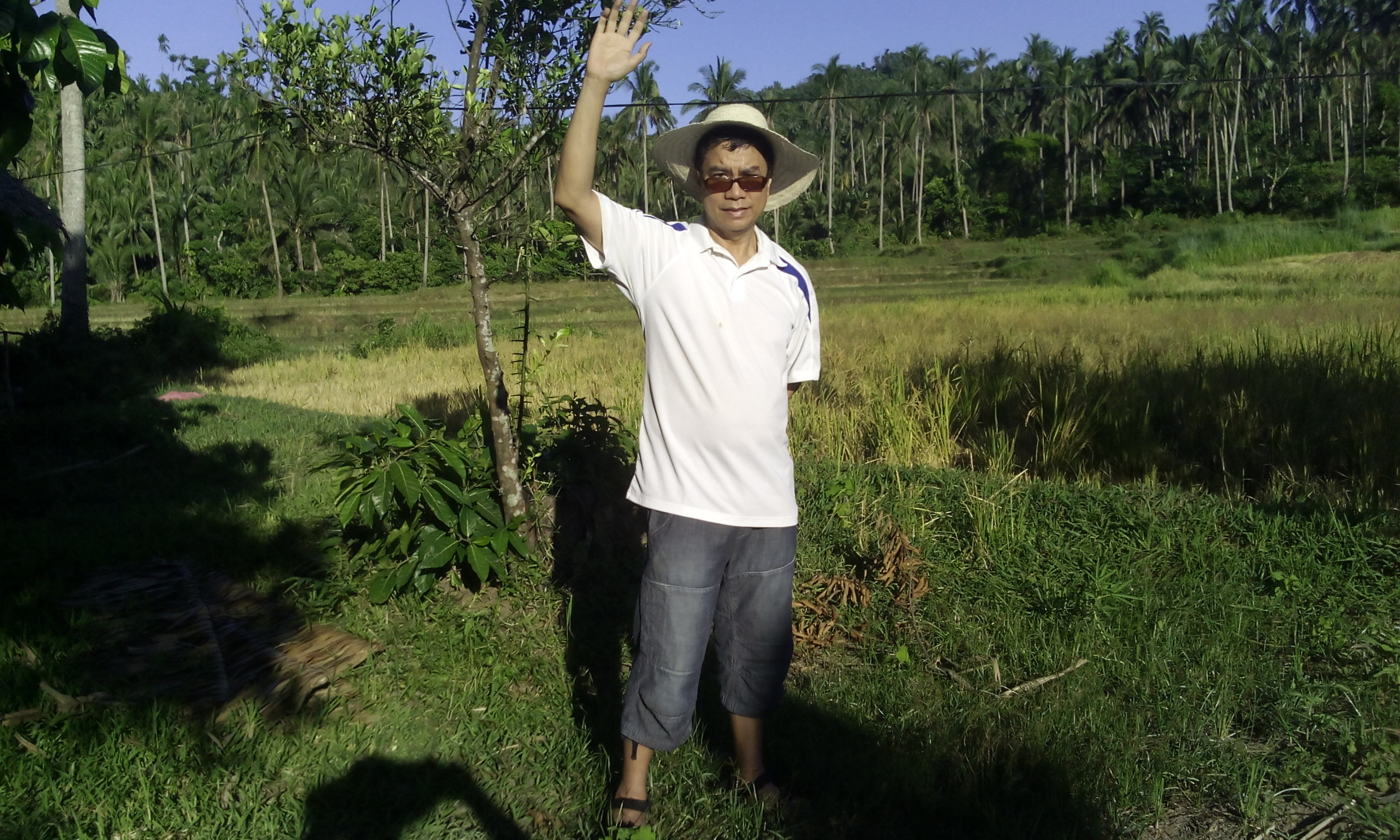 This photo was taken while I was visiting my grandfather's farm to introduce organic farming in Quezon province,  the Philippines.