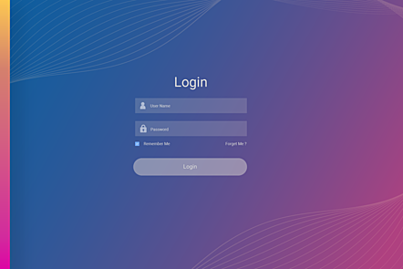 Photographic image of a password login screen