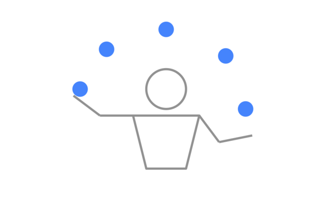 Graphic of a juggler