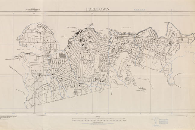 a map of Freetown from 1947